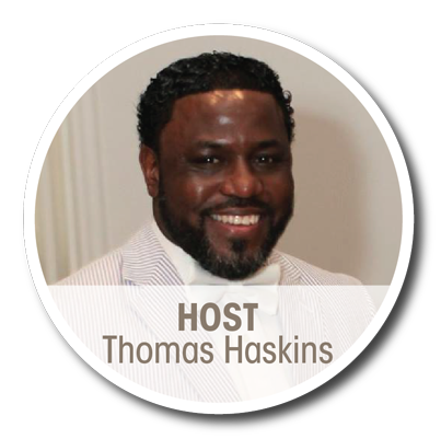 Host Thomas Haskins